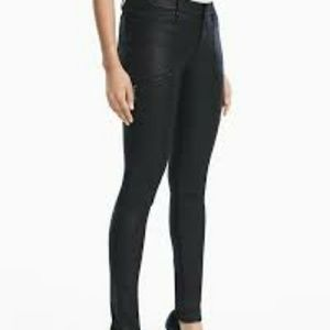 WHBM The Coated Skinny Utility jeans size 8